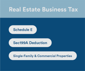 real estate business tax